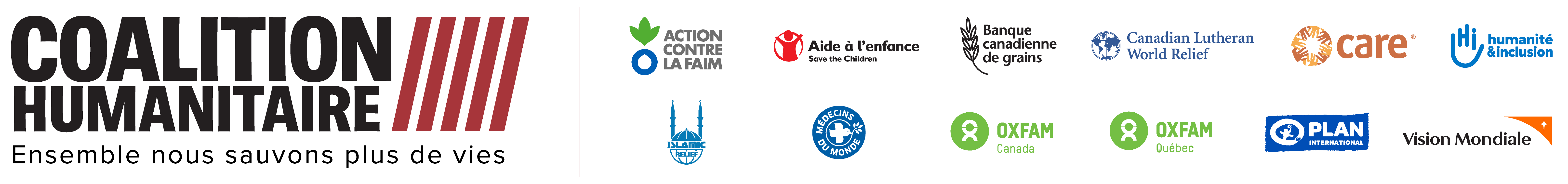 Humanitarian Coalition members logos