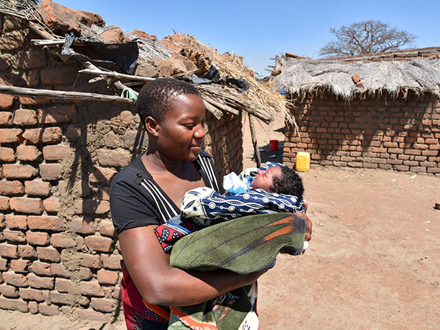6 months after Cyclone Idai, mother and child