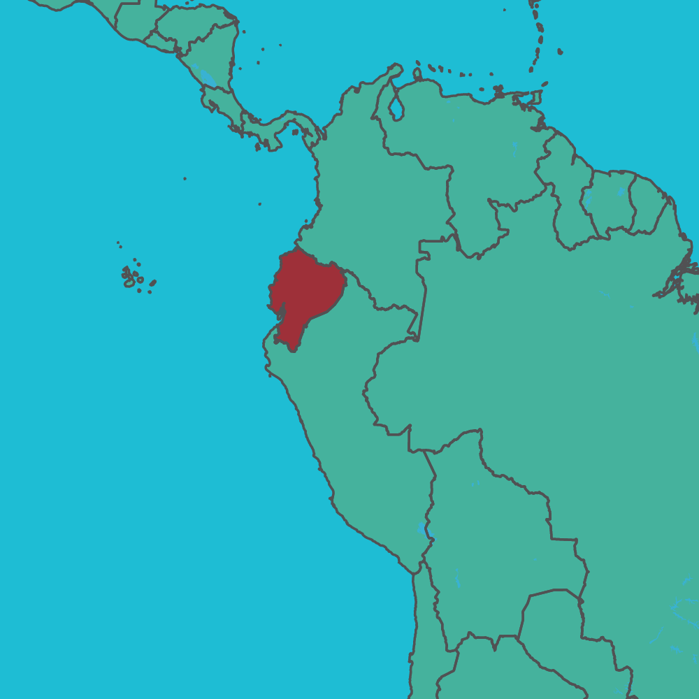 map of Ecuador in Souith America