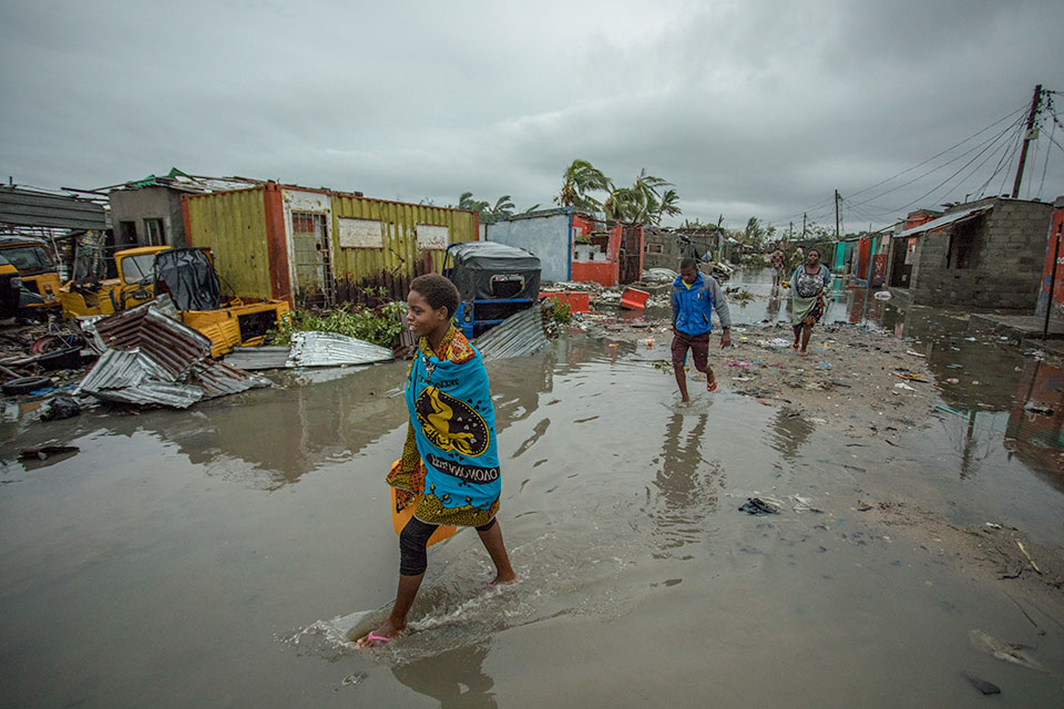 Flooded areas after Cyclone Idai hit Mozambique