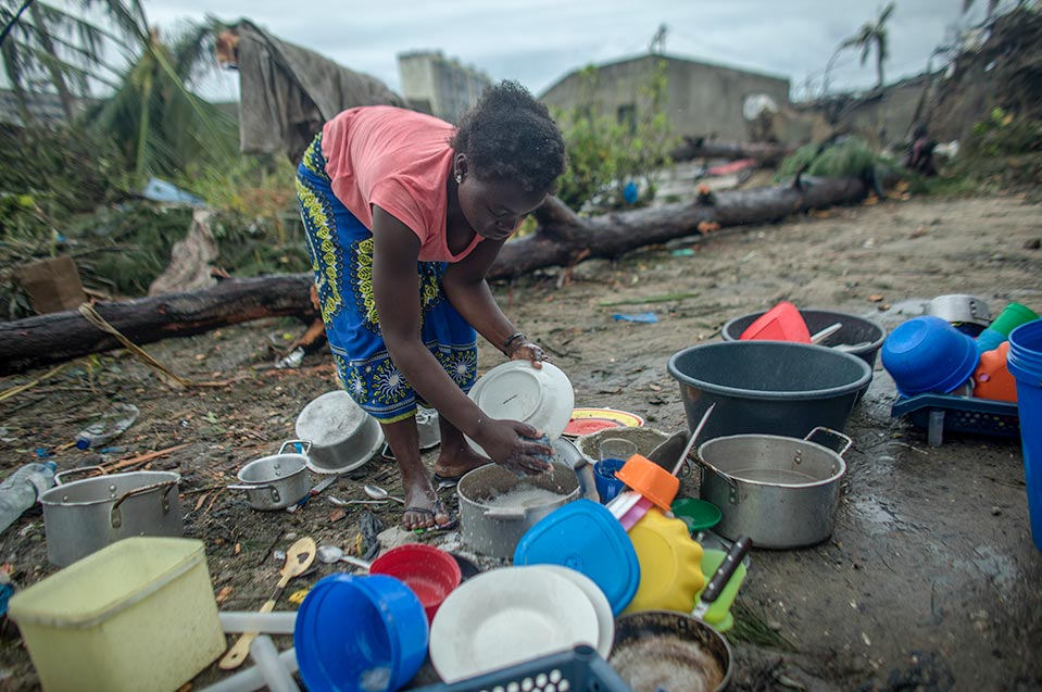 woman in Mozambique after Cyclone Idai