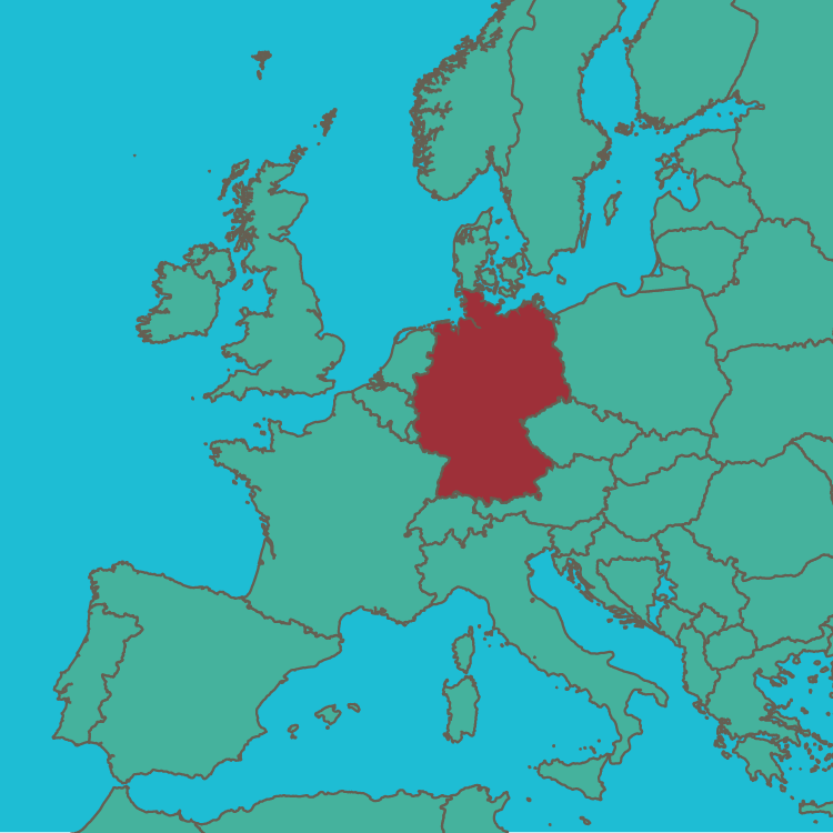 map Germany in Europe