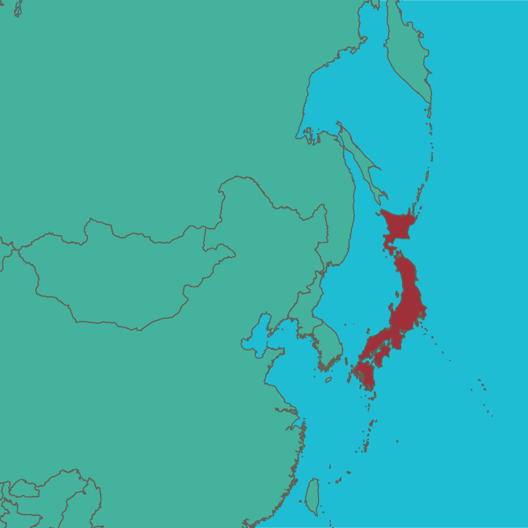 map Japan in Asia
