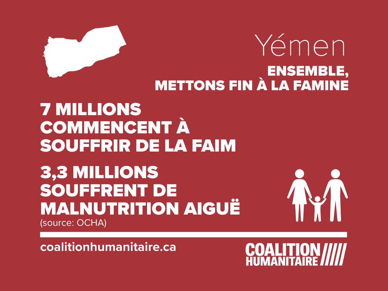 crise alimentaire au Yemen infographic