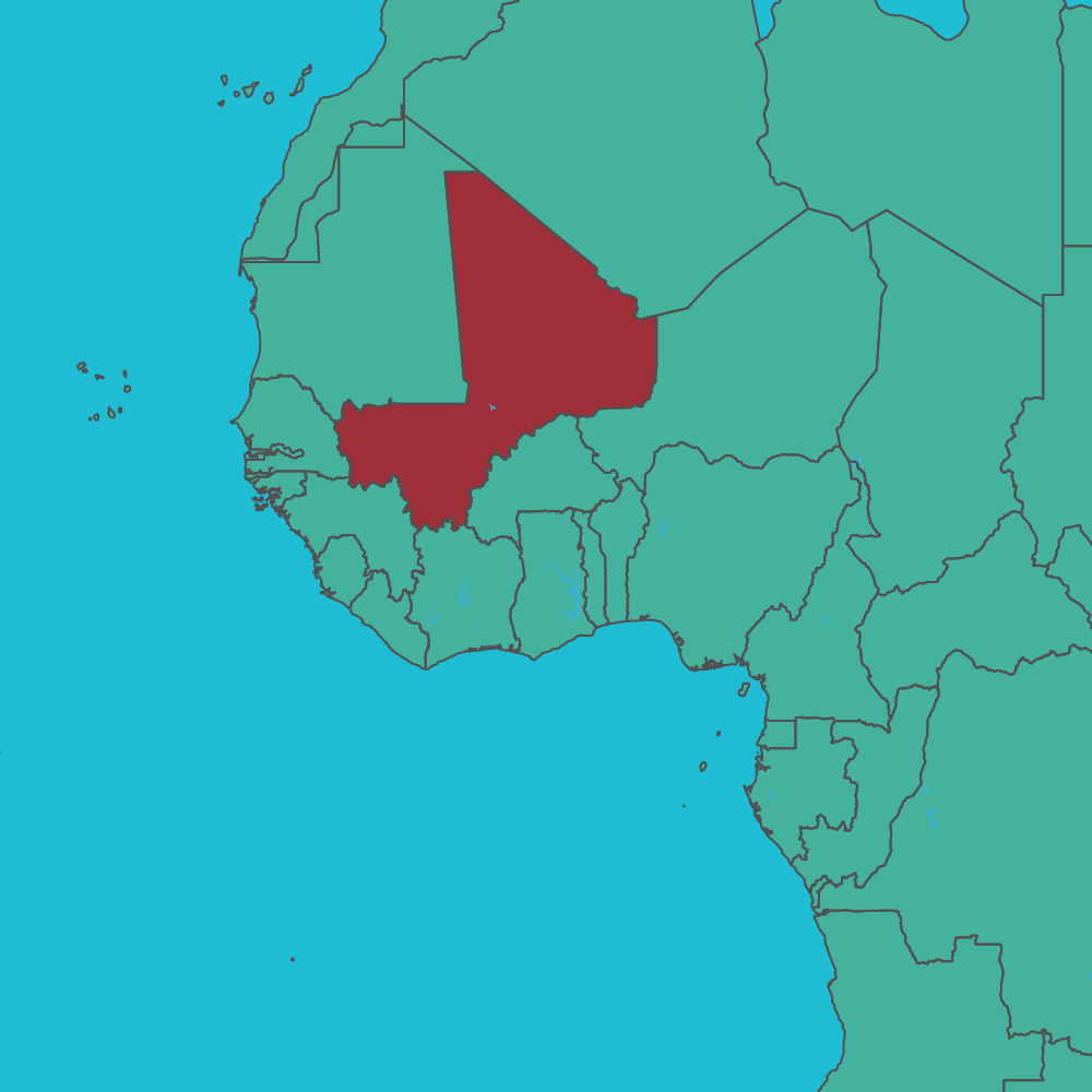 map of Mali in Africa