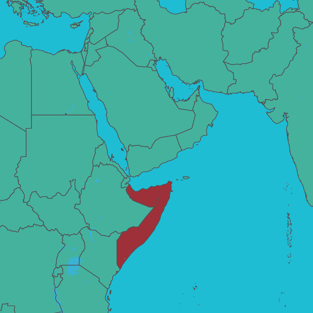 map of Somalia in Africa