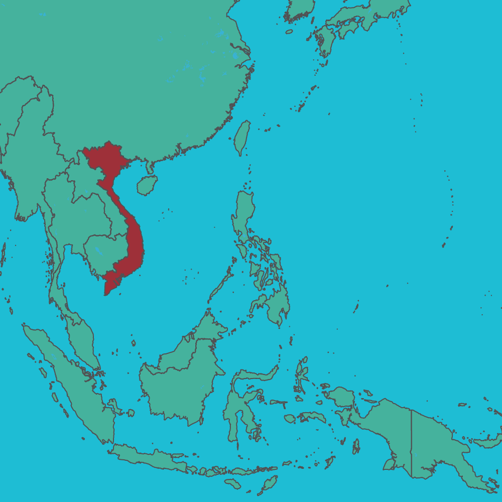 map of Vietnam in Asia